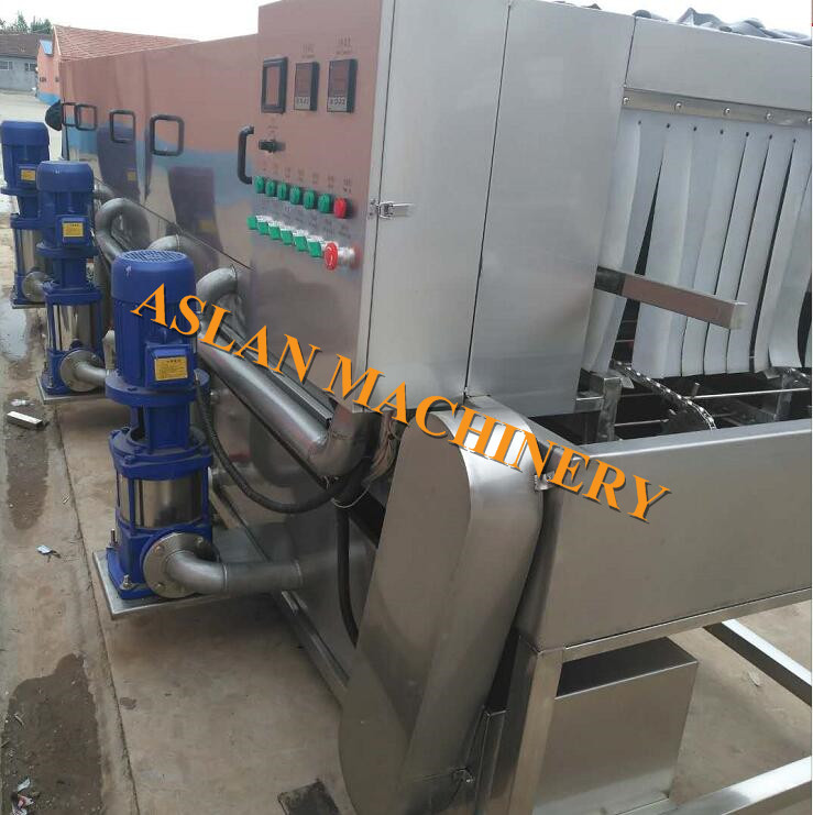 <b><font color='#FF6633'>plastic crate cleaning machine / plastic cages pallet washing machine</font></b>